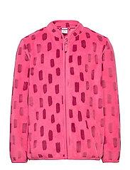 Fleece jacket AOP - DARK PINK