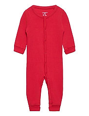 Onesie solid rib - RED