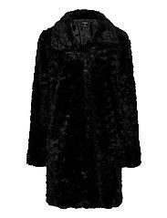 Coat Moa fur - BLACK