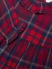 Lindex - Dress woven check - kleider - red - 2