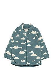 Jacket fleece - TURQUOISE
