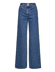 Trouser denim Jackie retro blu - BLUE