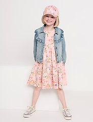 Lindex - Dress tricot s s puffsleeve - kleider - pink - 3