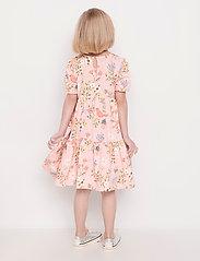 Lindex - Dress tricot s s puffsleeve - kleider - pink - 4