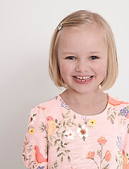 Lindex - Dress tricot s s puffsleeve - kleider - pink - 5