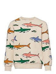 Sweater AOP Shark - BLACK