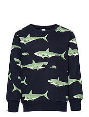 Sweater AOP Shark - BLUE