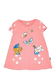 Top long Bamse s s pockets - CORAL