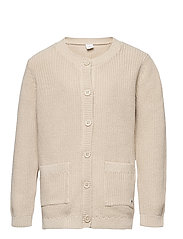 Cardigan Patent knit - BEIGE