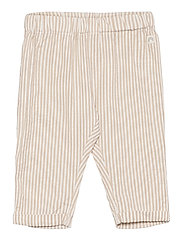 Trouser woven seersucker - BEIGE