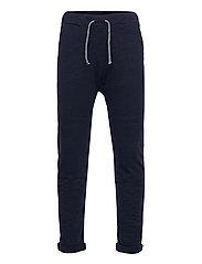Thin slub trousers   knee - BLUE
