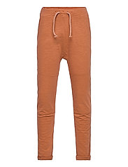Thin slub trousers   knee - BROWN