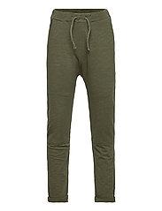 Thin slub trousers   knee - KHAKI