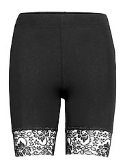 Leggings Sally lace short - BLACK