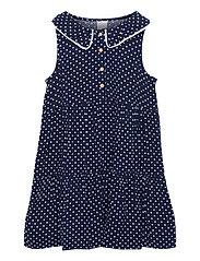 Dress Evelina Viscose ao print - BLUE