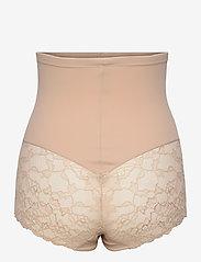 Lindex - Girdle Highwaist Kim Lace - bottoms - beige - 1