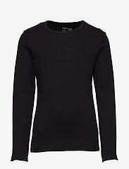 Lindex - Top rib - langermede t-skjorter - black - 1