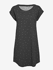 Lindex - Night Dress Big T Elisa AOP - nachtjurken - dark grey melange - 0