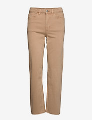 Lindex - Denim trousers Nea twill cr - straight jeans - light beige - 1