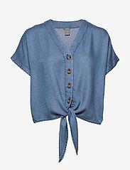 Lindex - Blouse Julia denim - bluzki z krótkim rękawem - denim blue - 0