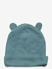 Lindex - Cap w ears - hatte og handsker - dusty turquoise - 1