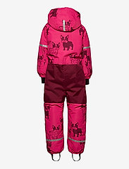 Lindex - Billie Overall dog aop - snowsuit - dark pink - 2