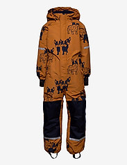 Lindex - Billie Overall dog aop - snowsuit - lt brown - 0