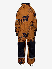 Lindex - Billie Overall dog aop - snowsuit - lt brown - 1