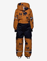 Lindex - Billie Overall dog aop - snowsuit - lt brown - 2