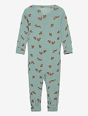 Lindex - baby onesies print - langärmelig - aqua - 1