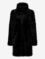 Lindex - Coat Moa fur - faux fur - black - 1