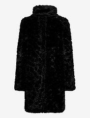 Lindex - Coat Moa fur - faux fur - black - 2
