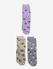 Sock 3p BG fruit - LILAC