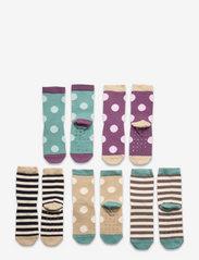 Sock 5p Small kids dots - LILAC