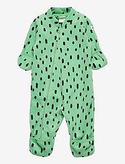 Lindex - Overall fleece - fleecetøj - green - 0