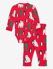 Lindex - Set Wrap Body leggings Funny x - jeu de 2 pièces - red - 1