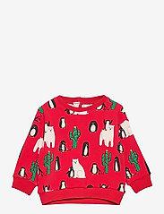 Lindex - Sweater Funny xmas - sweat-shirt - red - 0