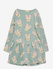 Lindex - Dress velour ao printed - kleider - turquoise - 1