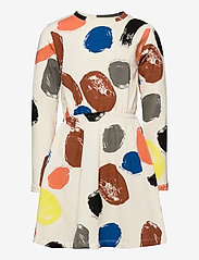 Lindex - Dress little artist AOP - kleider - beige - 0