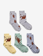 Lindex - Sock 5p sock sloth all kids - skarpety & rajstopy - turquoise - 0
