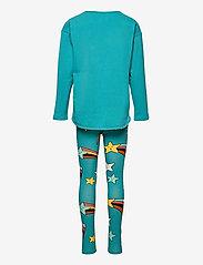 Lindex - Top   leggings SET  KIND - 2-delige sets - turquoise - 1
