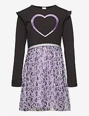 Lindex - Dress l s with leo mesh skirt - kleider - lilac - 0