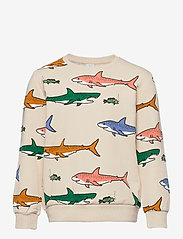 Lindex - Sweater AOP Shark - sweatshirts - black - 0