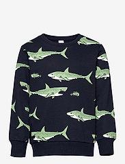 Lindex - Sweater AOP Shark - sweatshirts - blue - 0