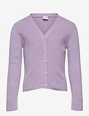 Lindex - Cardigan Vneck - gilets - lilac - 0