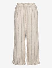 Lindex - Trouser Bella linen - bukser med brede ben - beige - 0