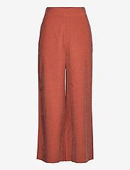 Lindex - Trouser Sanna cropped - bukser med brede ben - red - 0