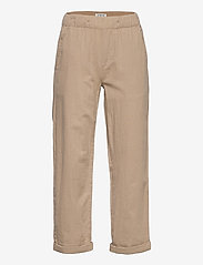 Lindex - Trousers Linnen - trousers - beige - 0