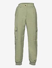 Lindex - Trousers Arlene - trousers - green - 0