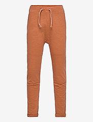 Lindex - Thin slub trousers   knee - sweatpants - brown - 0